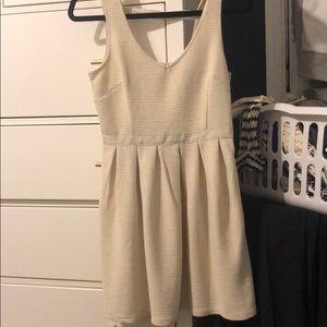Cream tank top dress